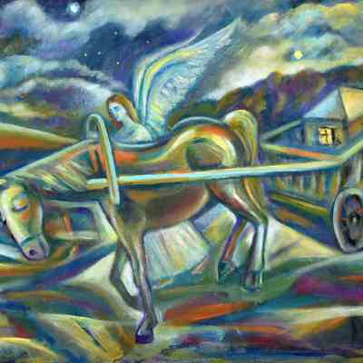 Angel with a Cart - 2